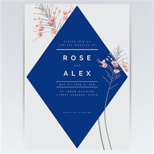 矢量花卉創意海報背景素材