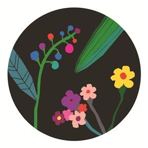扁平化手绘花朵植物背景素材