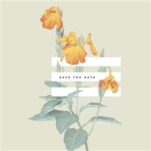 矢量黃色花卉海報背景素材
