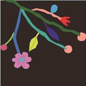 扁平化花卉底纹边框素材