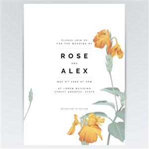 矢量黄色花卉海报背景素材