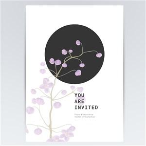 紫色鲜花花纹背景