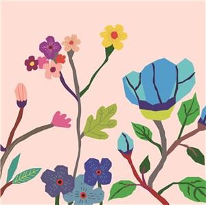 扁平化花卉背景底纹