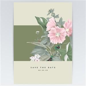 矢量花卉唯美海报背景素材
