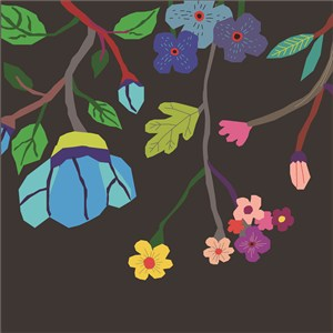 扁平化花卉植物背景素材