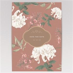 復古矢量花卉植物海報背景素材