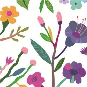 扁平化花卉背景底紋素材