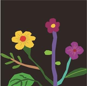 扁平化花朵背景素材