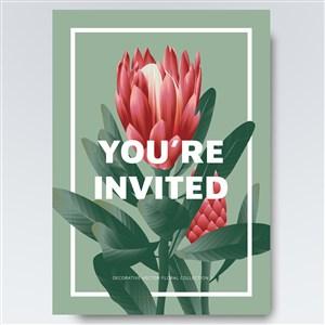 鲜花花纹海报背景素材