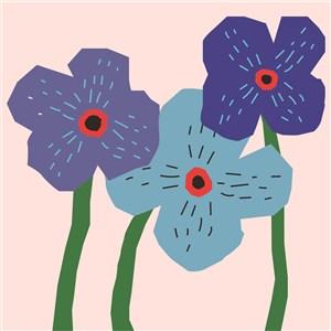 扁平化花朵矢量素材
