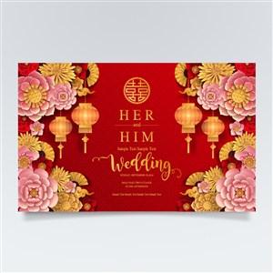 婚慶新年花卉燈籠