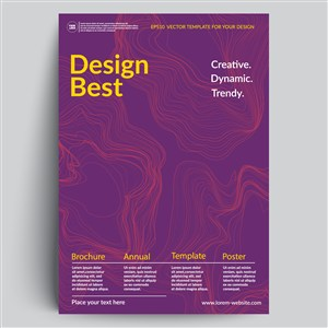 紫色线条海报背景素材