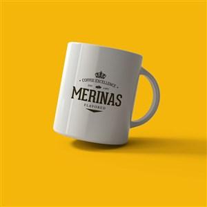 白色咖啡杯马克杯样机