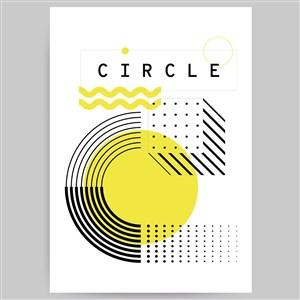 簡約幾何圖案海報背景