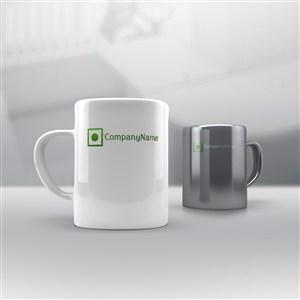 马克杯咖啡杯贴图样机
