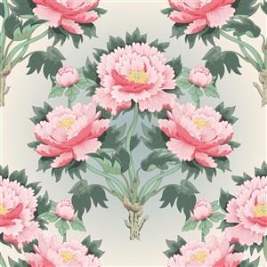 古典中式傳統牡丹花花紋
