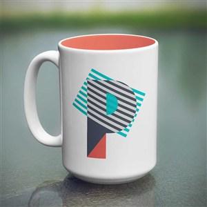 白底咖啡杯马克杯贴图样机