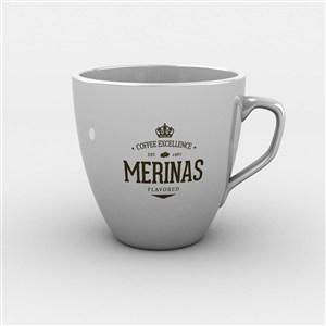 簡約咖啡杯樣機