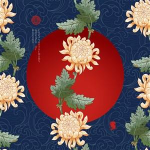 古典中式传统菊花素材