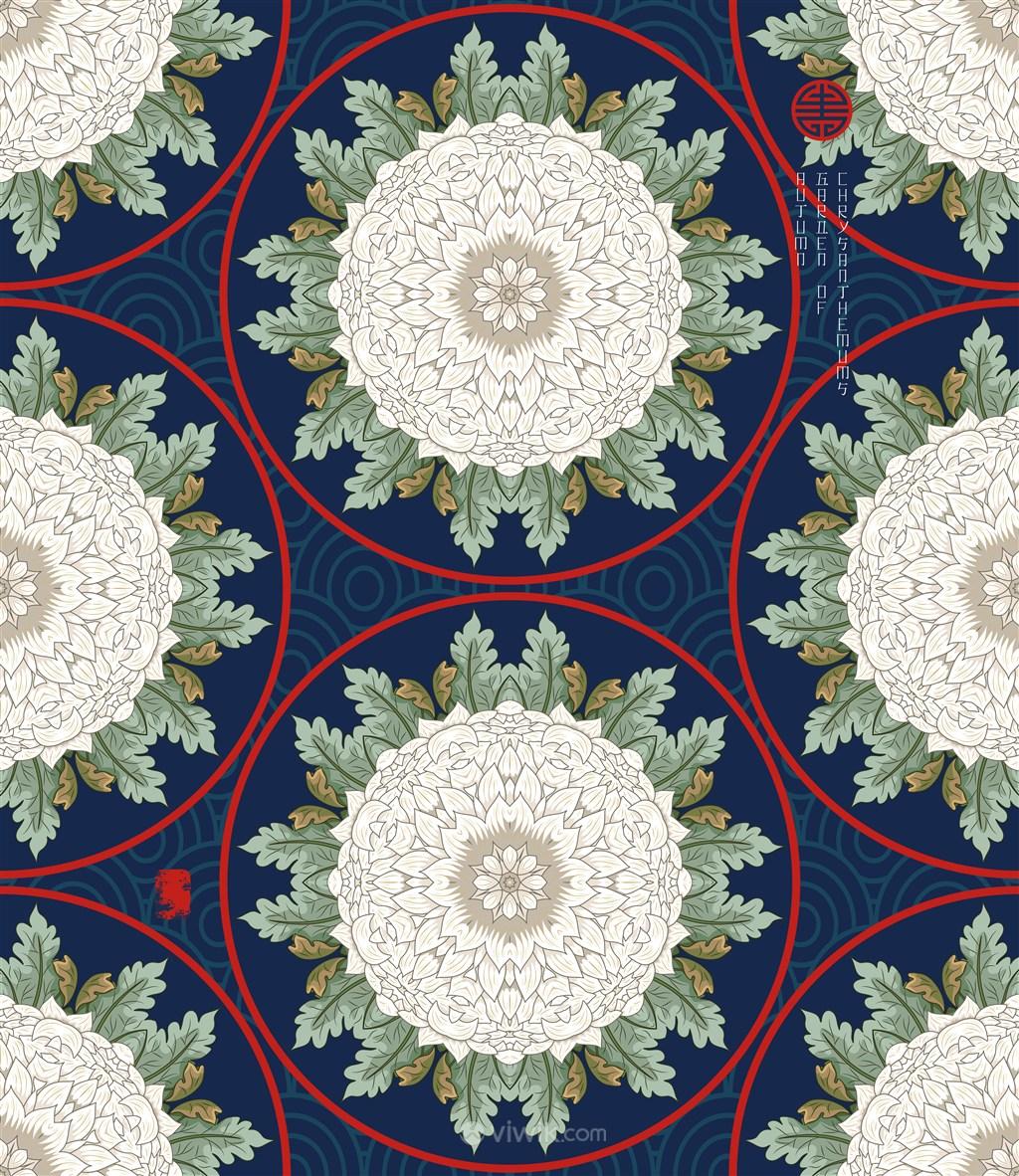 古典中式矢量花纹底纹