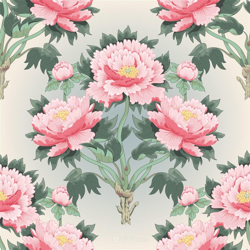 古典中式传统牡丹花花纹