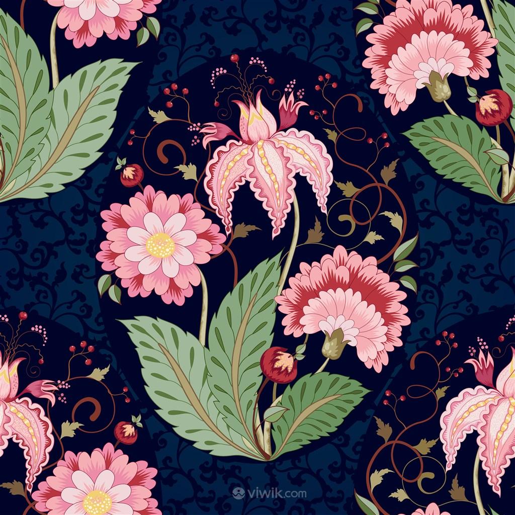 中国传统花纹底纹素材
