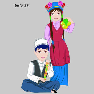 保安族Bao'anzu五十六个民族人物