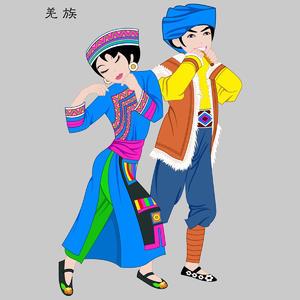 羌族Qiangzu五十六个民族人物