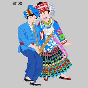 苗族Miaozu五十六个民族人物