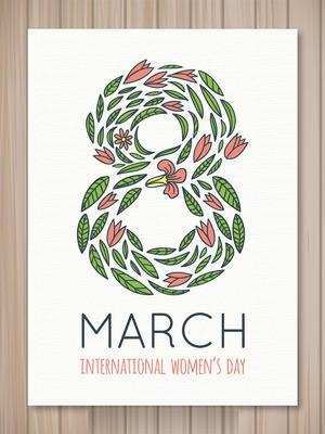 妇女节花卉海报