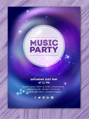 空間音樂派對的海報