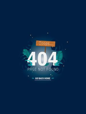 创意404错误页面迷失的雨林矢量图
