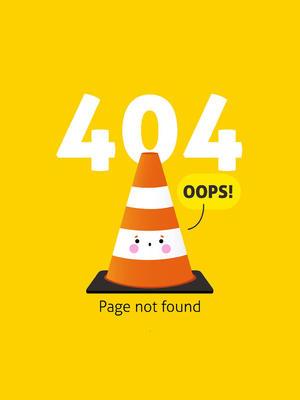 创意404错误页面橡胶隔离锥矢量素材