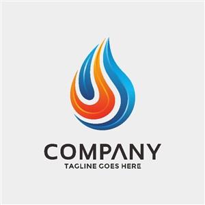 水火矢量图标企业logo素材