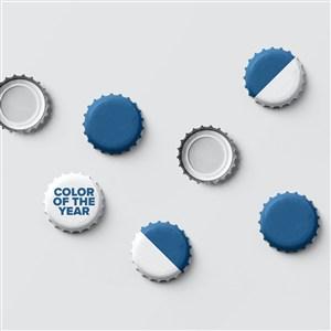 2020蓝色品牌vi瓶盖样机