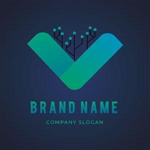 科技公司矢量logo设计素材