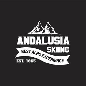 雪山圖標滑雪運動logo設計素材