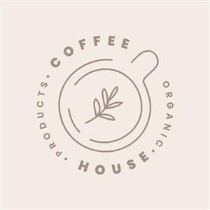 咖啡店矢量logo设计素材