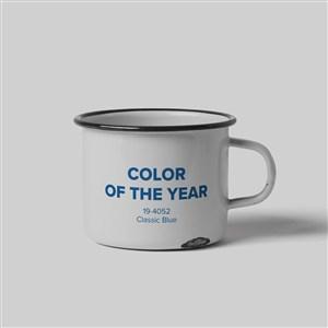 2020蓝色品牌vi搪瓷杯样机