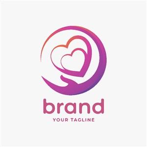 手心矢量圖標醫療機構logo設計素材