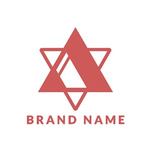 六角星圖標矢量logo設計素材