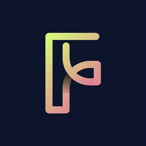 炫彩字母F標志設計logo素材