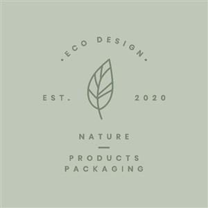 生态自然产品矢量logo设计