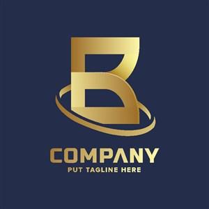 金色标志设计公司logo素材
