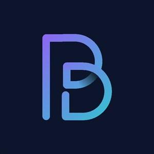 炫彩字母B标志设计logo素材