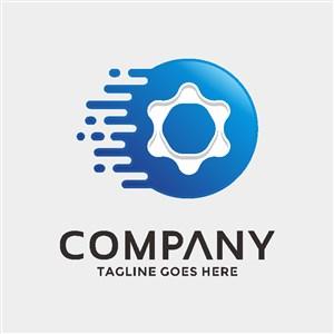 齿轮标志设计机械品牌logo素材