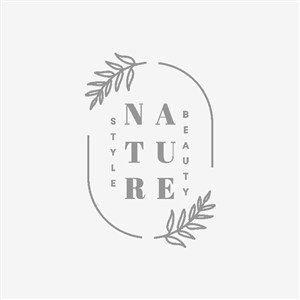 自然護膚品化妝品logo設計