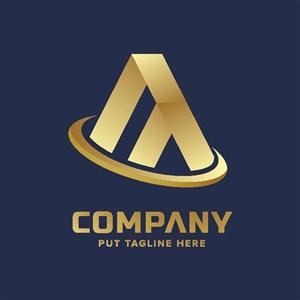 金色房地產標志logo設計