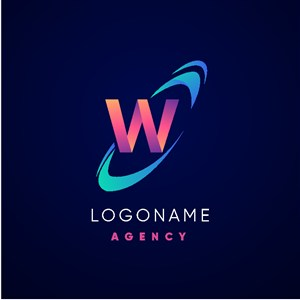 W标志图标公司矢量logo设计素材