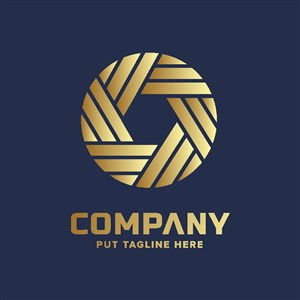 金色地產logo設計素材